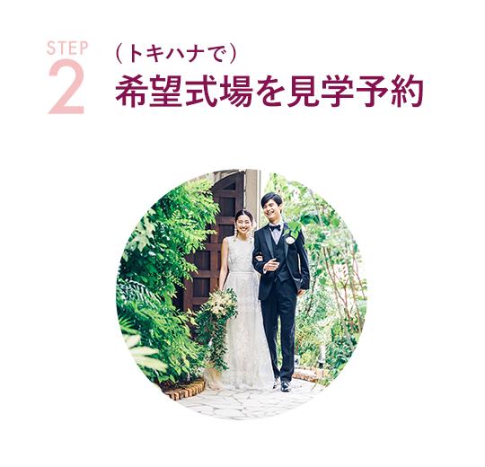 STEP-2 (トキハナで)希望式場を見学予約