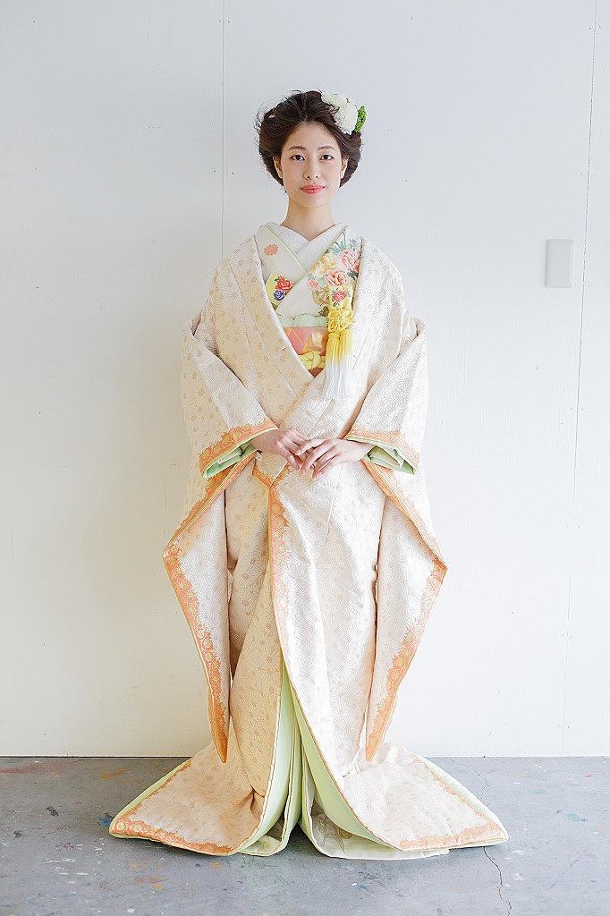 菊づくし額縁袘鶸色