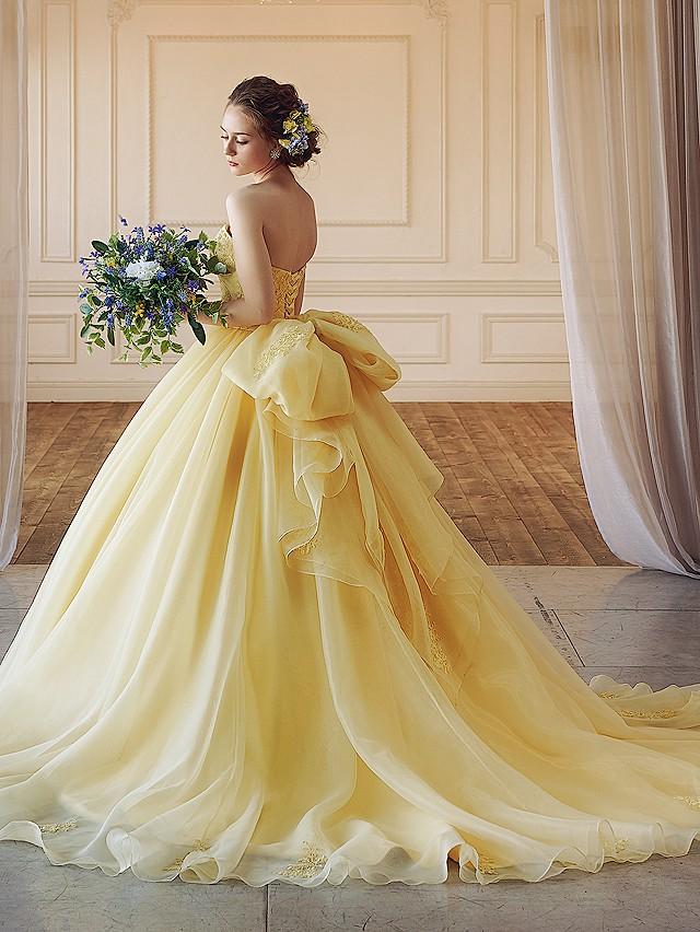 Helena(ヘレナ)イエローのオーガンジードレス