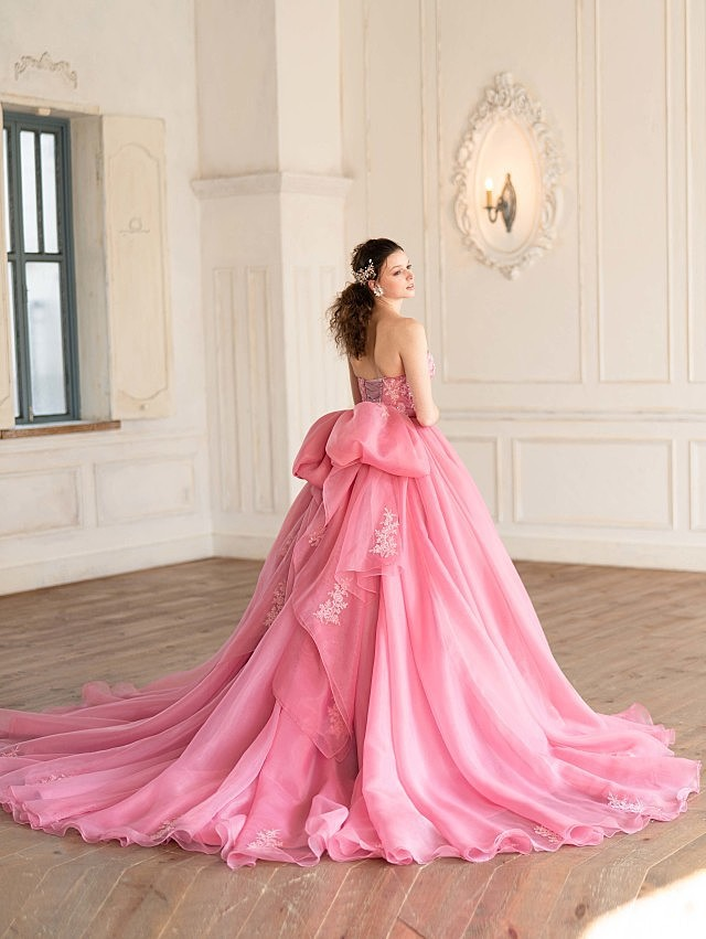 Helena(ヘレナ)フェアリーピンクのオーガンジードレス