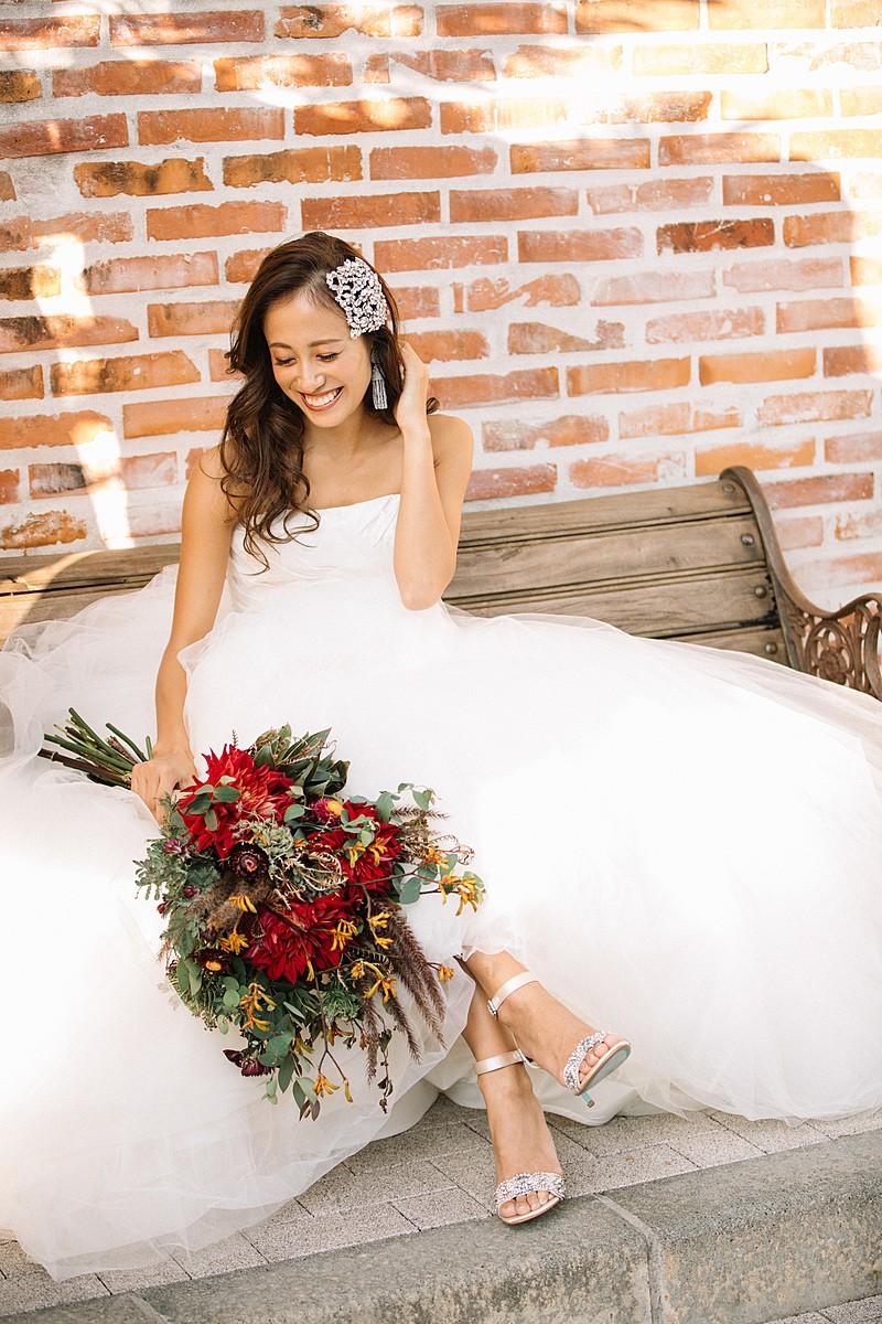 White by Vera Wang Draped Taffeta Wedding Dress