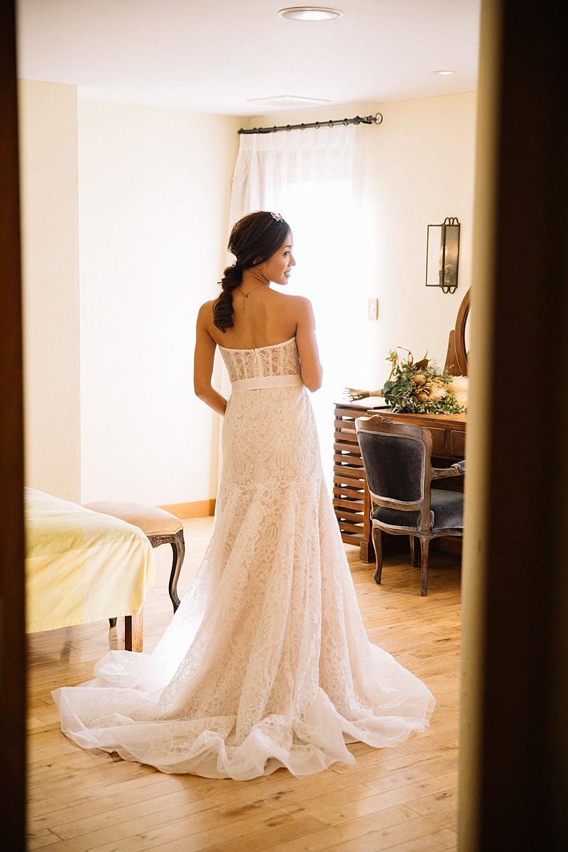 White by Vera Wang Macrame Trumpet Wedding Dress
