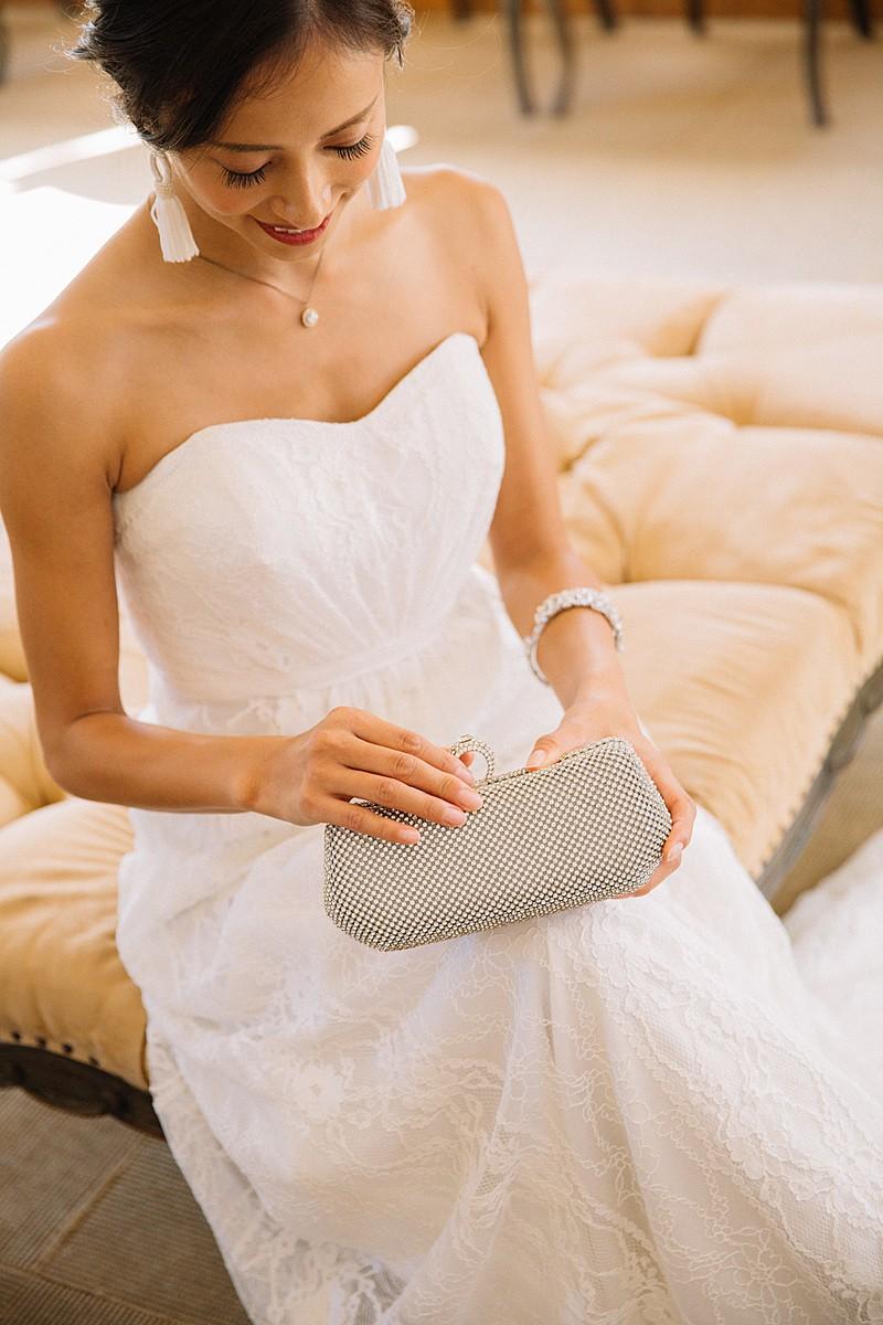 Galina Strapless Linear Lace Sheath Wedding Dress