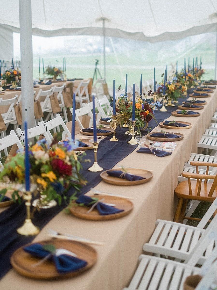 秋のゲストテーブル装花