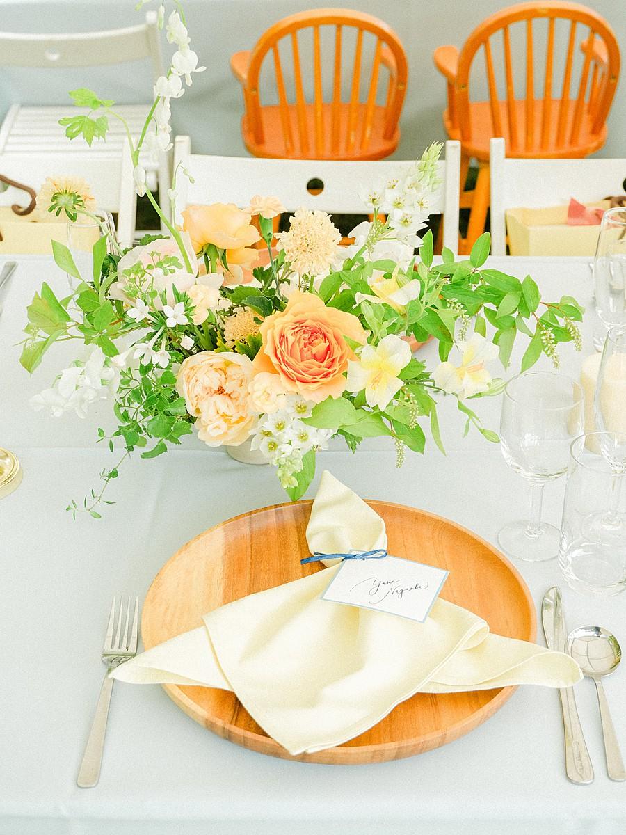 春のゲストテーブル装花