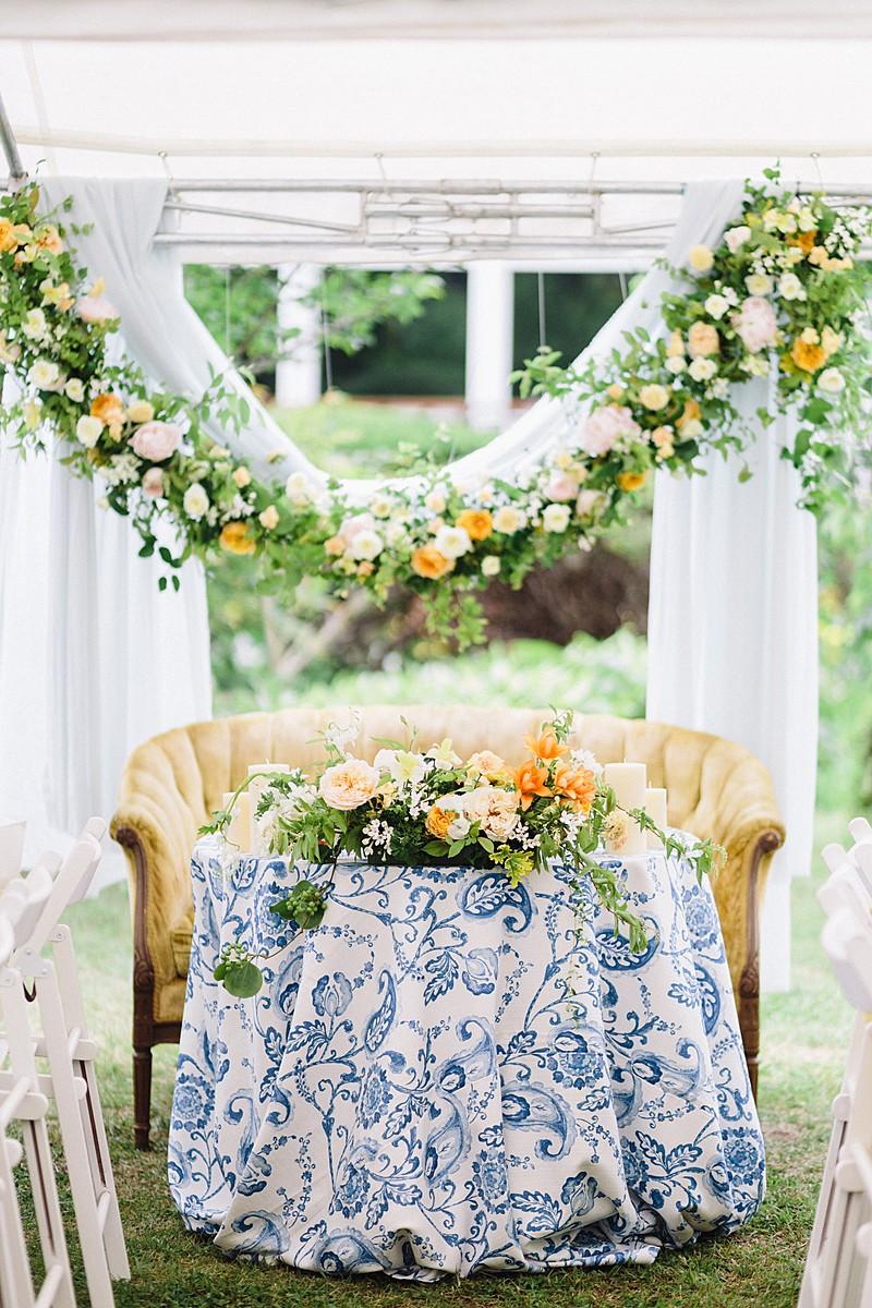 春のメインテーブル装花