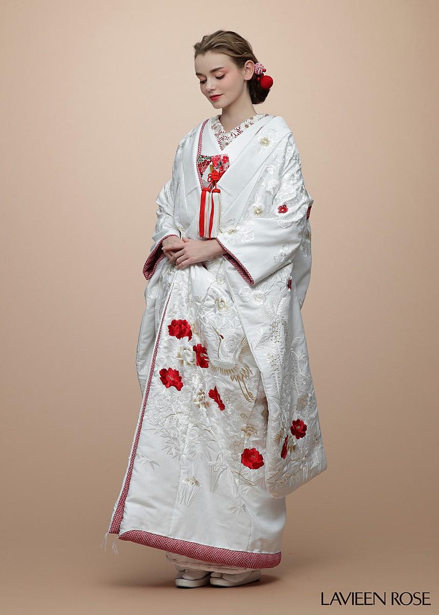 鹿の子疋田枝垂桜刺繍