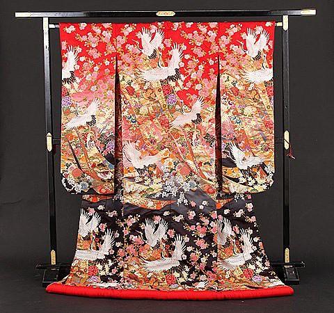 鶴に桜熨斗