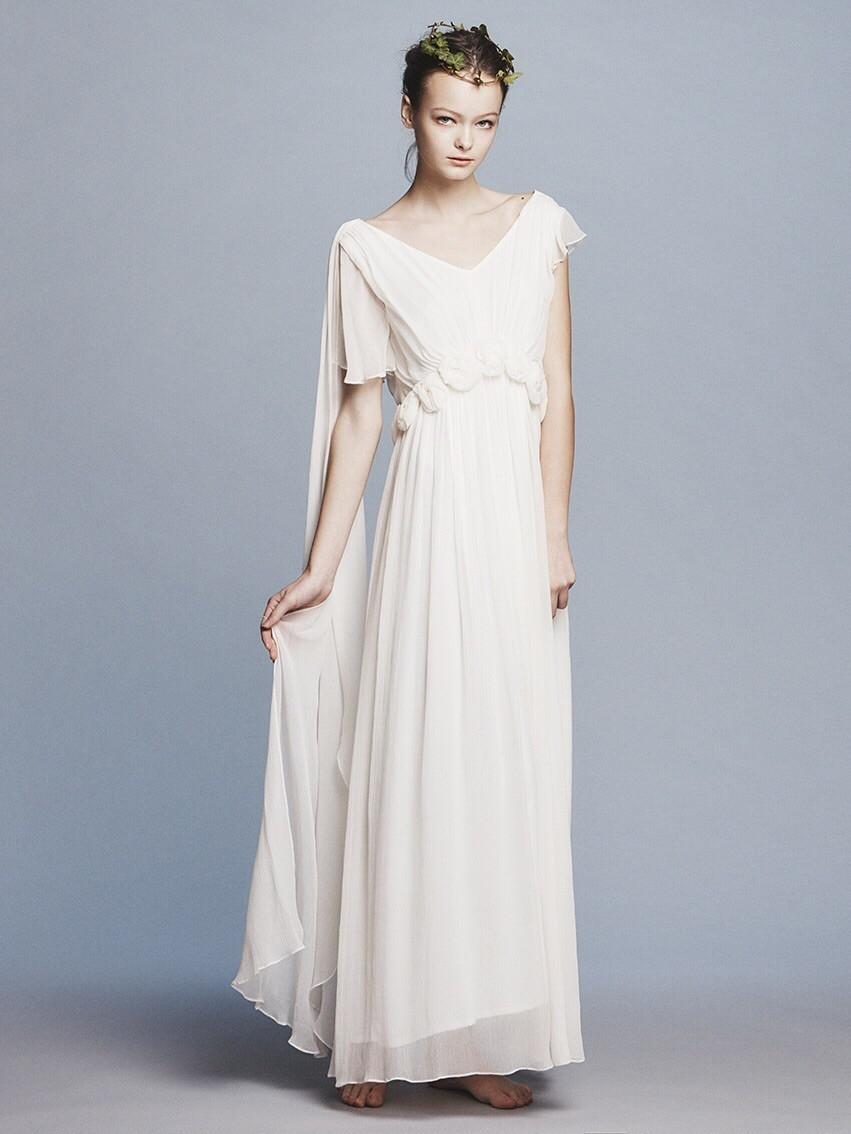 silk yoryu corsage wedding dress