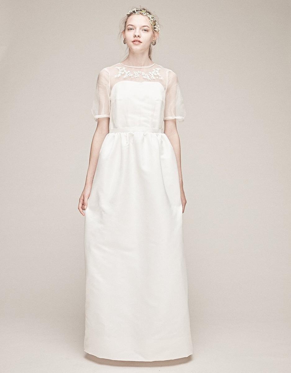 シルクグログラン刺繍ドレス