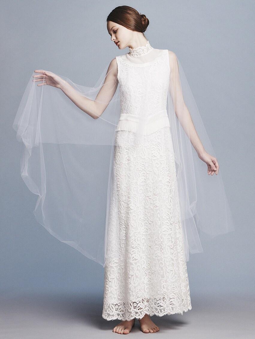 france lace cape dress(セミオーダー)