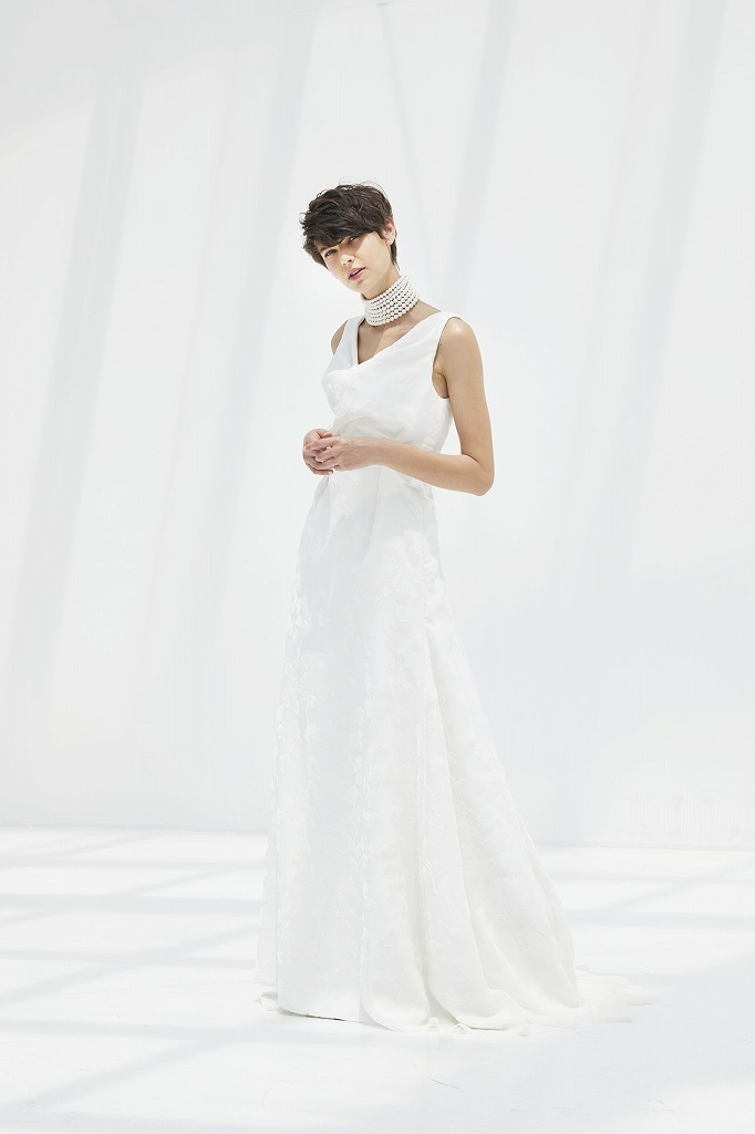 ドレープタックマーメイドドレス(セミオーダー)