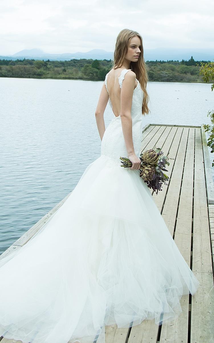 上品でエアリー感のあるマーメイドドレス